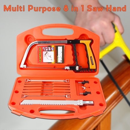 Multi Purpose 8 in 1 Universal Hand Saws DIY Tools Kit Steel Glass Wood Working Cutting with Extra 5 Metal Saw