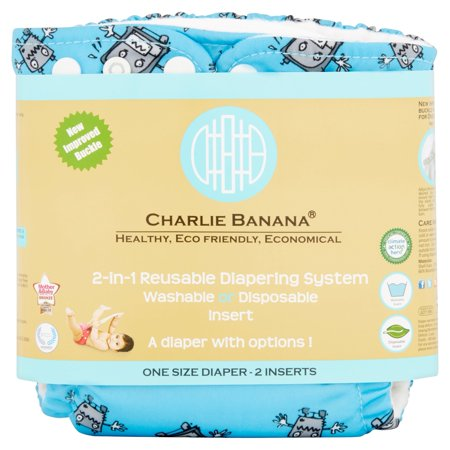 Charlie Banana One Size 2-in-1 Reusable Diapering System