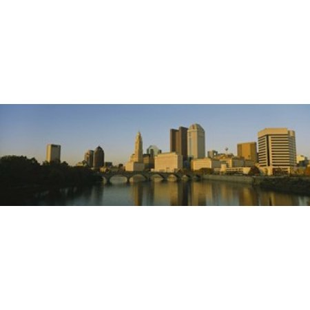 High angle view of buildings at the waterfront Columbus Ohio USA Canvas Art - Panoramic Images (18 x 6) - Halloween Usa Columbus Ohio