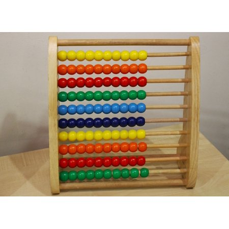 LAMINATED POSTER Frame Counting Frame Math Abacus Tool Education Poster Print 24 x 36