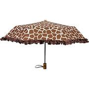 91015GIRAFFE Ruffles Ruffle-Giraffe Umbrella