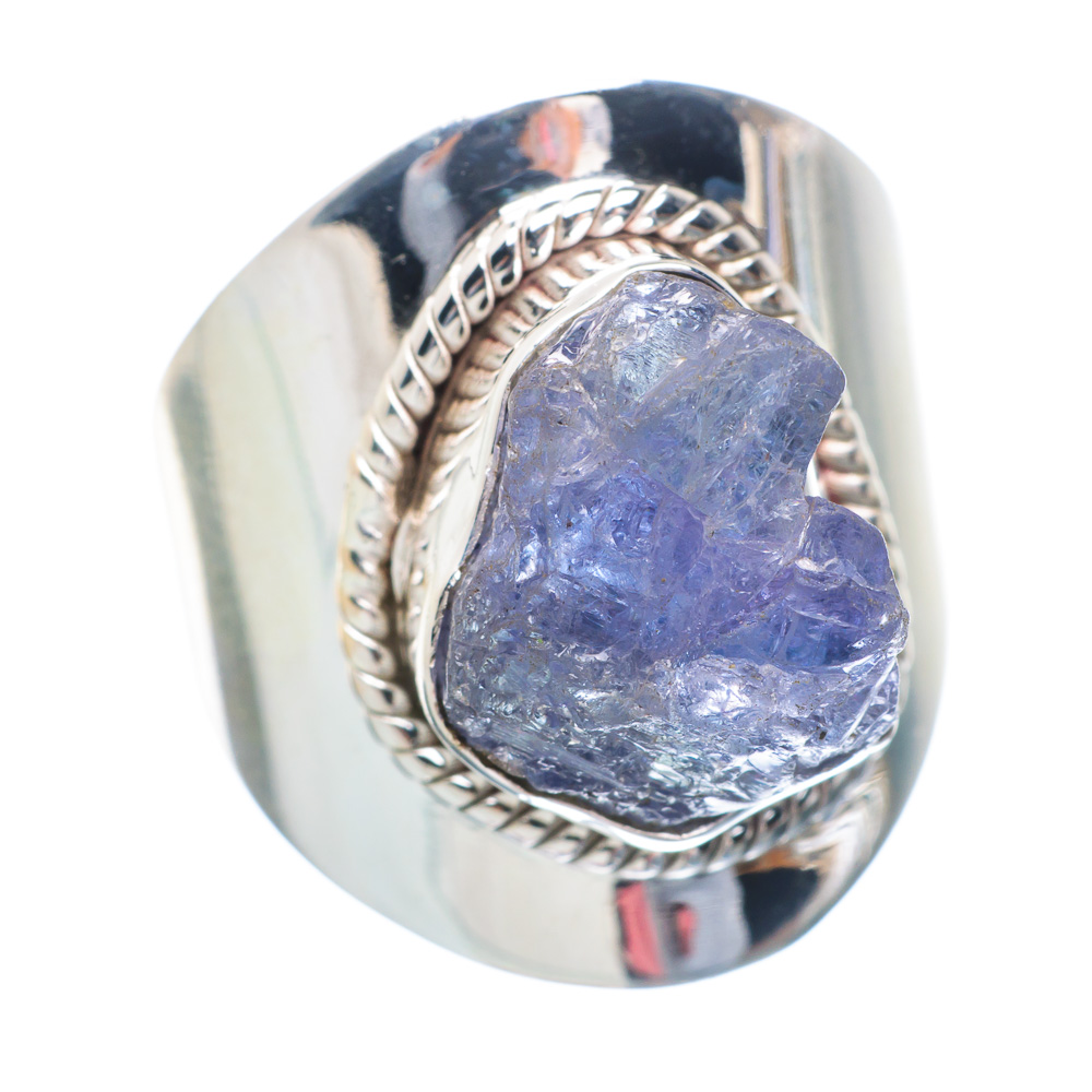 Rough Tanzanite Ring Size 8.25 (925 Sterling Silver) Handmade Boho Vintage Jewelry RING896485 by Ana Silver Co.