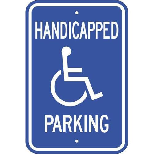 ZING 2681 Handicap Parking Sign, 18in Hx12in L