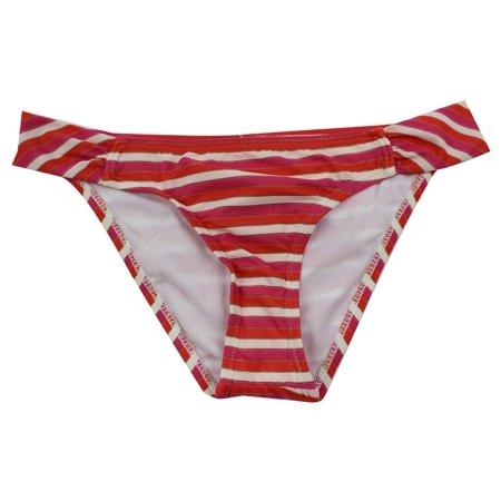 0ac15aec59 Ella Moss Women's Red Pink Multi Striped Side Straps Bikini Bottom