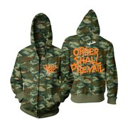 Jungle Rot Men's  Nuclear Superiority Zippered Hooded Sweatshirt Camouflage