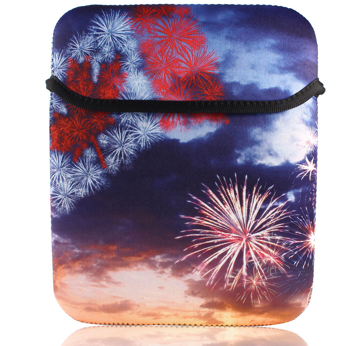 "Neoprene 10"" Tablet PC Laptop Christmas Fireworks Soft Neoprene Sleeve Bag Case"