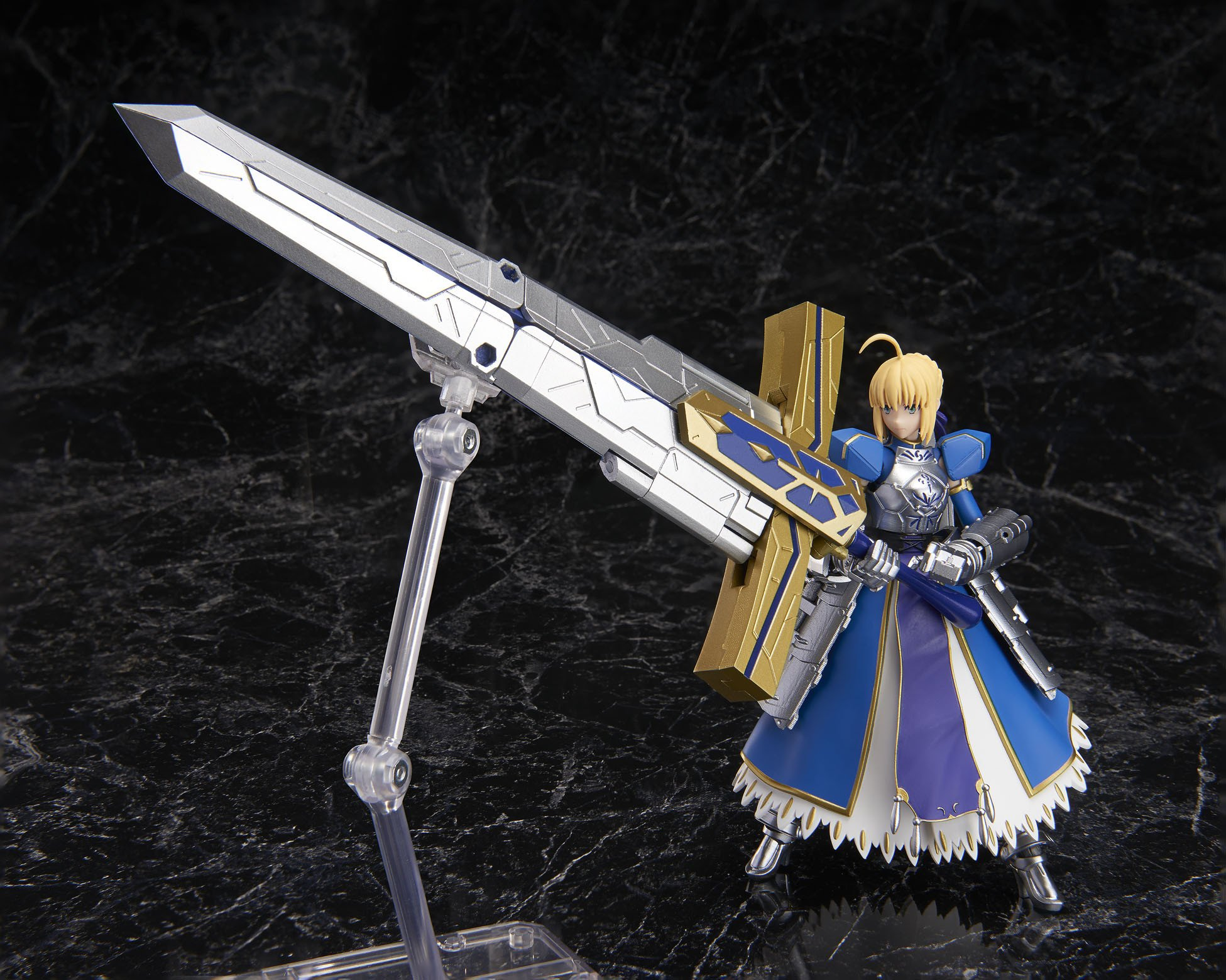 Bandai Armor Girls Project Saber Arturia Pendragon & Variable Excalibur Fate Grand Order Action Figure by