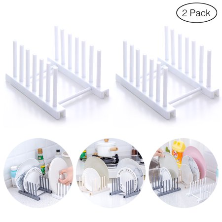 Plastic Plate Cup Rack Pot Lid Holder Drying Storage Stand Kitchen Organizer