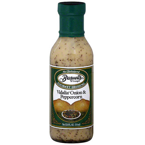 Braswell's Vidalia Onion & Peppercorn Dressing, 12 oz (Pack of 6)