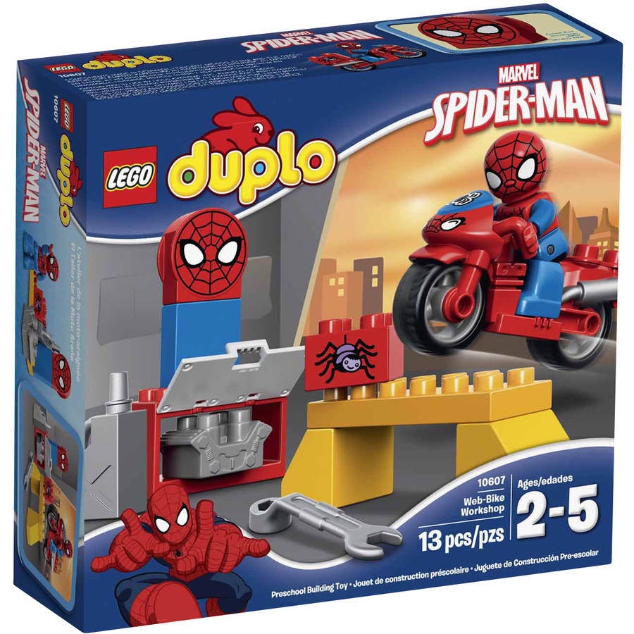 LEGO DUPLO Marvel Spider-Man Web-Bike Workshop Building Set, 10607