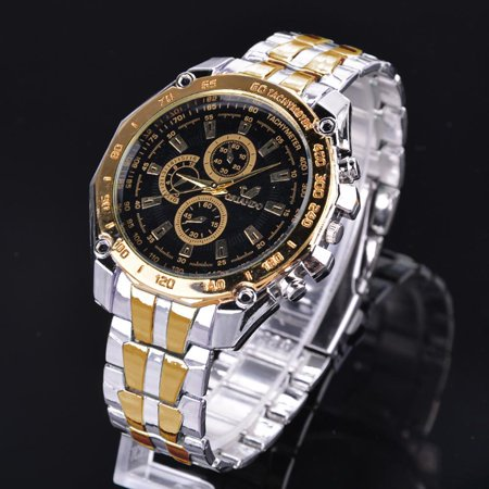 - Black Friday BIG SALES Men  Wrist Watch Fashion Stainless Steel Luxury Sport Analog Quartz Clock