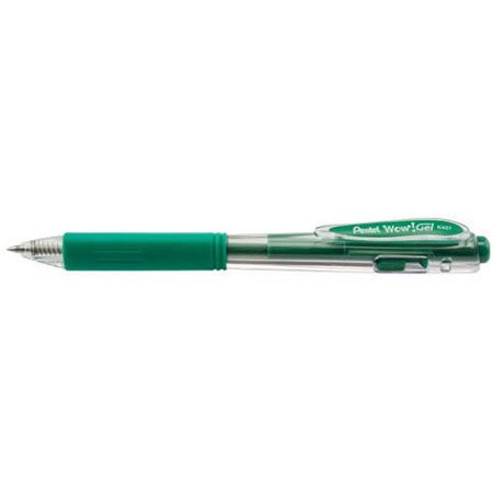 Light Green Ink - Wow! Gel Retractable Gel Pen, (0.7mm) Medium Line, Green Ink