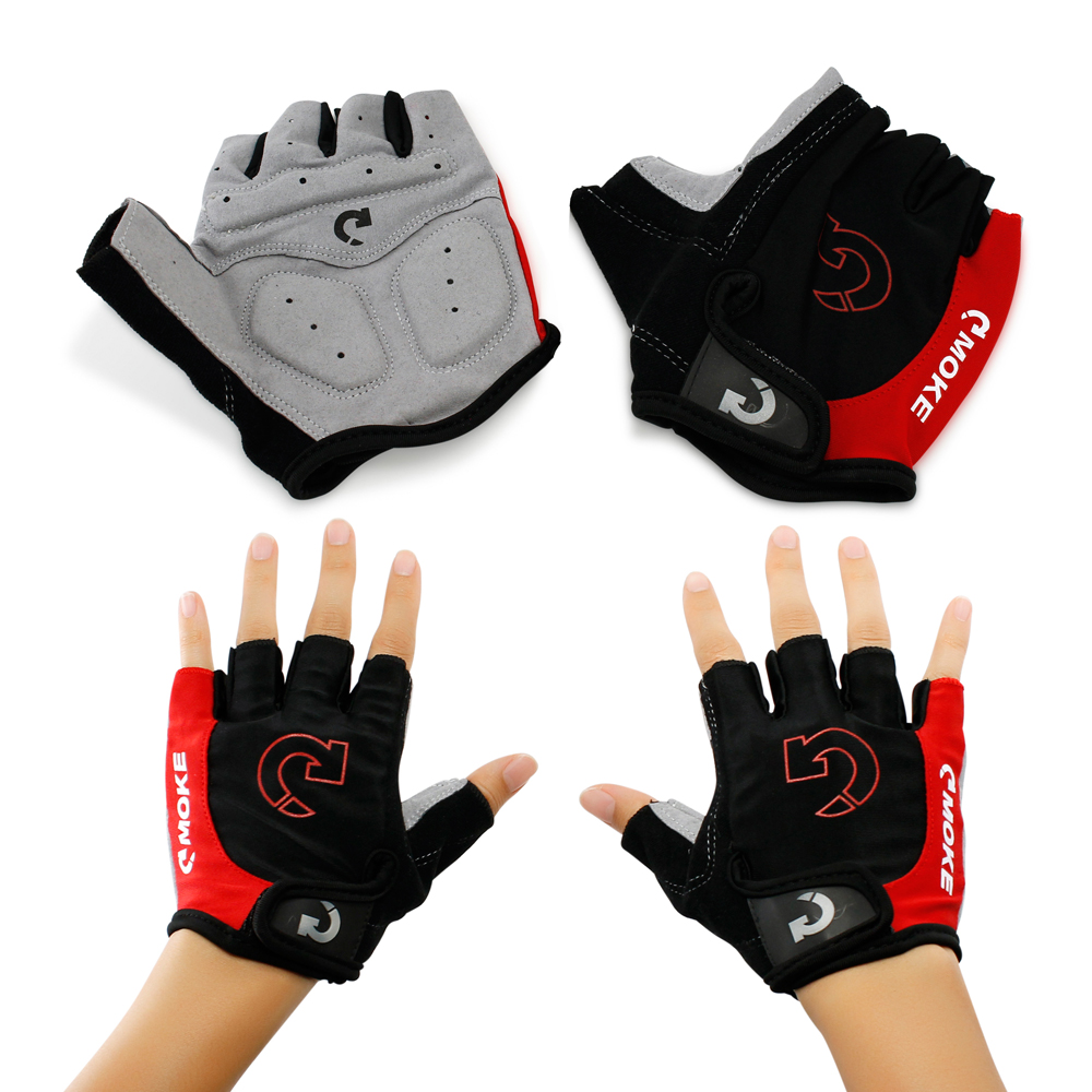 New Fashion Cycling Bike Bicycle Motorcycle Shockproof Outdoor Sports Half Finger Short Gloves by