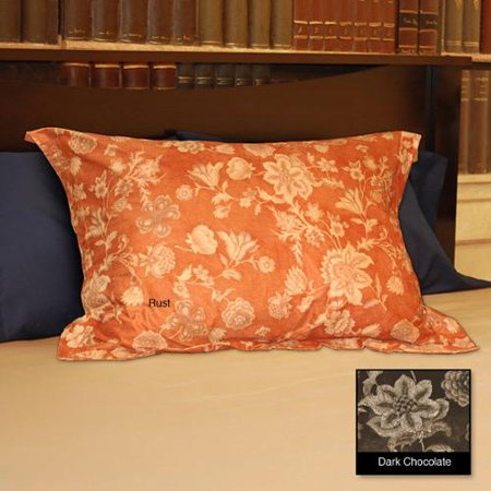 National Sleep Products Soft Microsuede Floral Shams Set
