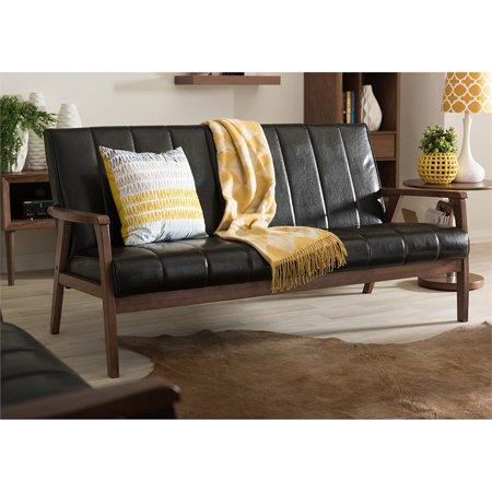 Baxton Studio Nikko Faux Leather Sofa