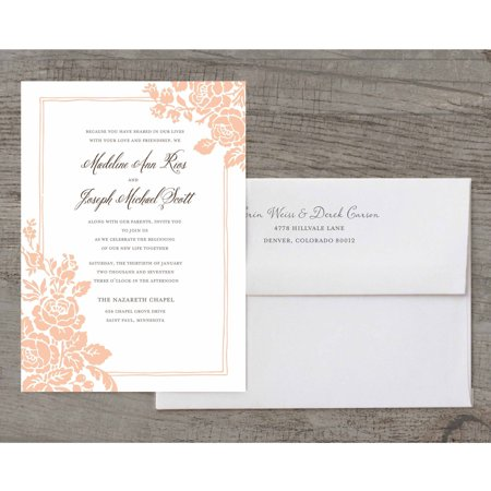 - Classic Floral Deluxe Wedding Invitation