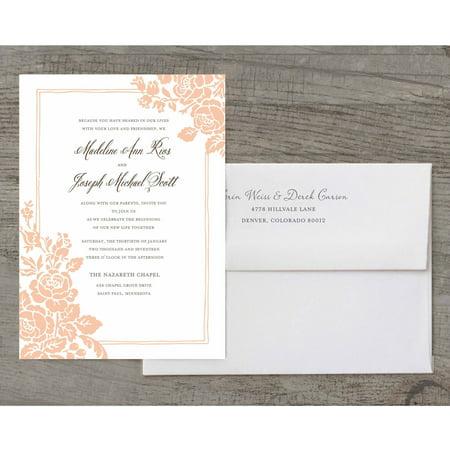 Pocket Wedding Invitation Kits (Classic Floral Deluxe Wedding)