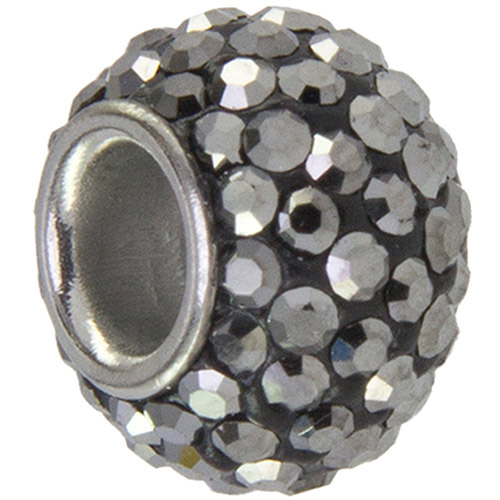 Connections from Hallmark Gray Crystal Stainless Steel Charm