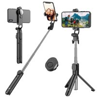 Bluetooth Selfie Stick, Extendable Phone Tripod Selfie Stick with Wireless Remote for iPhone XR/XS/X/8/8 plus/7/7 Plus, Galaxy S9/S8/S7/S6, iOS, Android, Xiaomi, Huawei