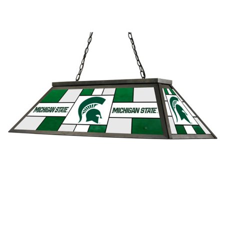 Imperial ncaa pool table light stained glass michigan for Pool light show walmart