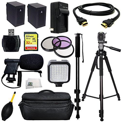 Professional Accessory Package For Panasonic AG-AC90 AVCCAM HD Professional HD Camcorders Includes 3 Piece Filter Kit (U