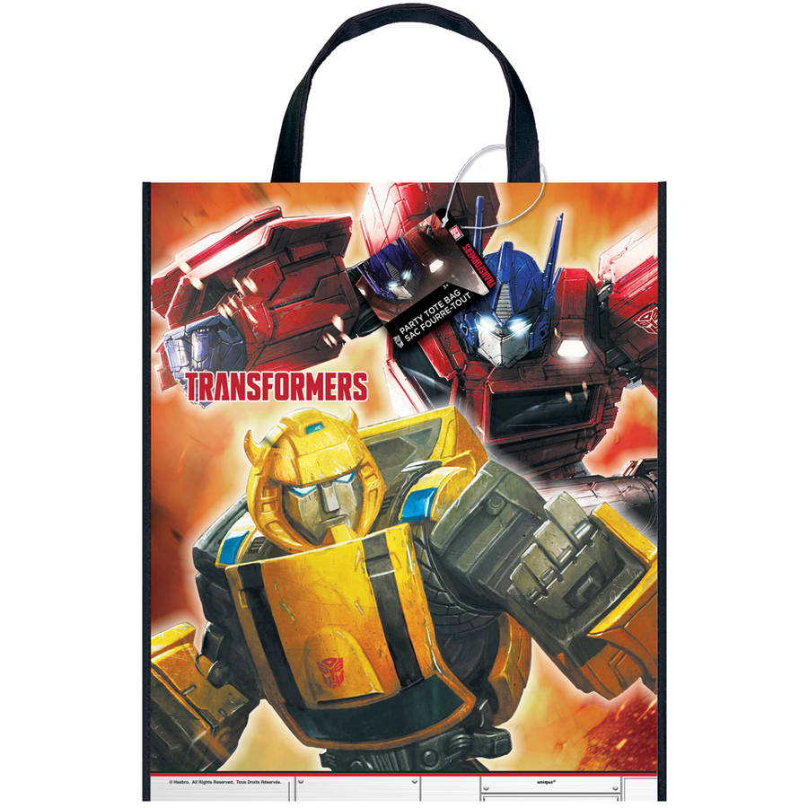 Large Plastic Transformers Goodie Bag, 13 x 11 in, 1ct