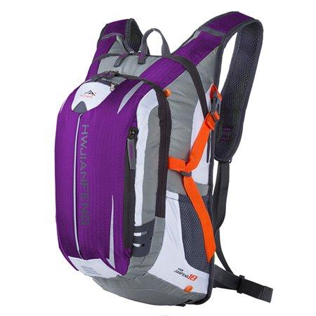 Nylon Waterproof Outdoor Backpack Cycling Backpack Sport Portable Backpack (Purple)