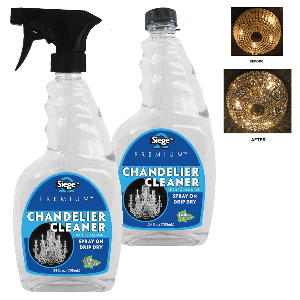 2x Chandelier Cleaner Spray Refill 24oz Light Fixture Glass Crystal Polish Shine by SIEGE BRANDS