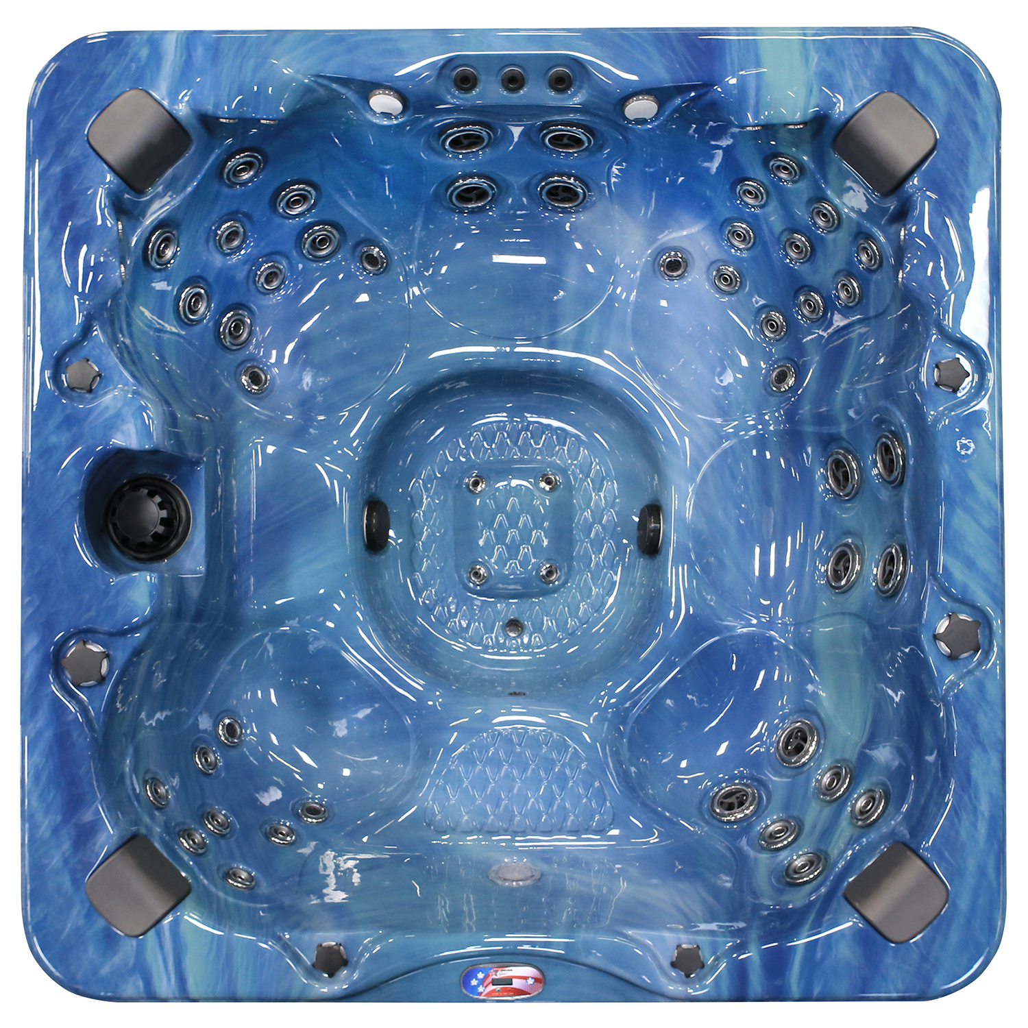 6-Person 56-Jet Bench Spa with Bluetooth Stereo System, Subwoofer and Backlit LED... by Hot Tubs