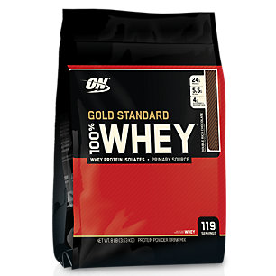 Optimum Nutrition 100% Whey Gold Standard Protein , Double Rich Chocolate, 8 Pound