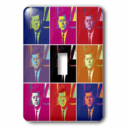 3dRose President John F. Kennedy (1961) Pop Art (Multi-Views), Single Toggle Switch