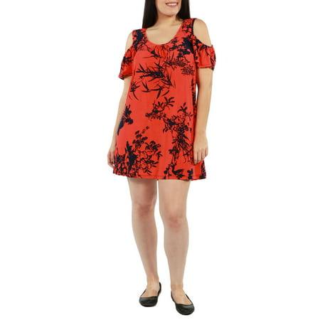 24/7 Comfort Apparel - Wren Plus Size Dress - Walmart.com
