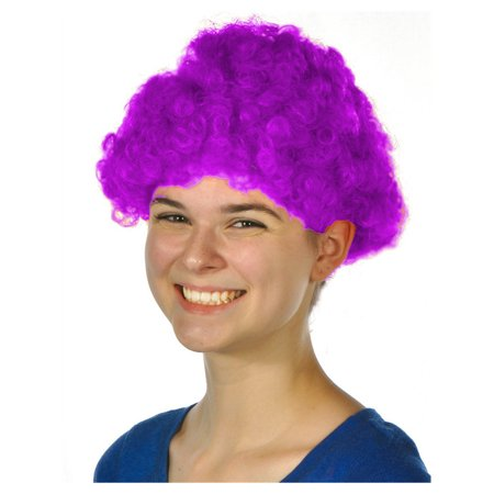 Mens Womens Child Costume Accessory Dress Up Purple Afro Team Spirit Clown Wigs for $<!---->