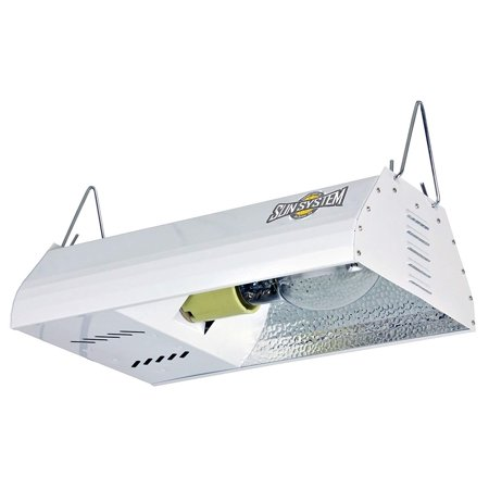 150w hps grow light kit - reflector with hood, lamp & ballast - sun system 900490