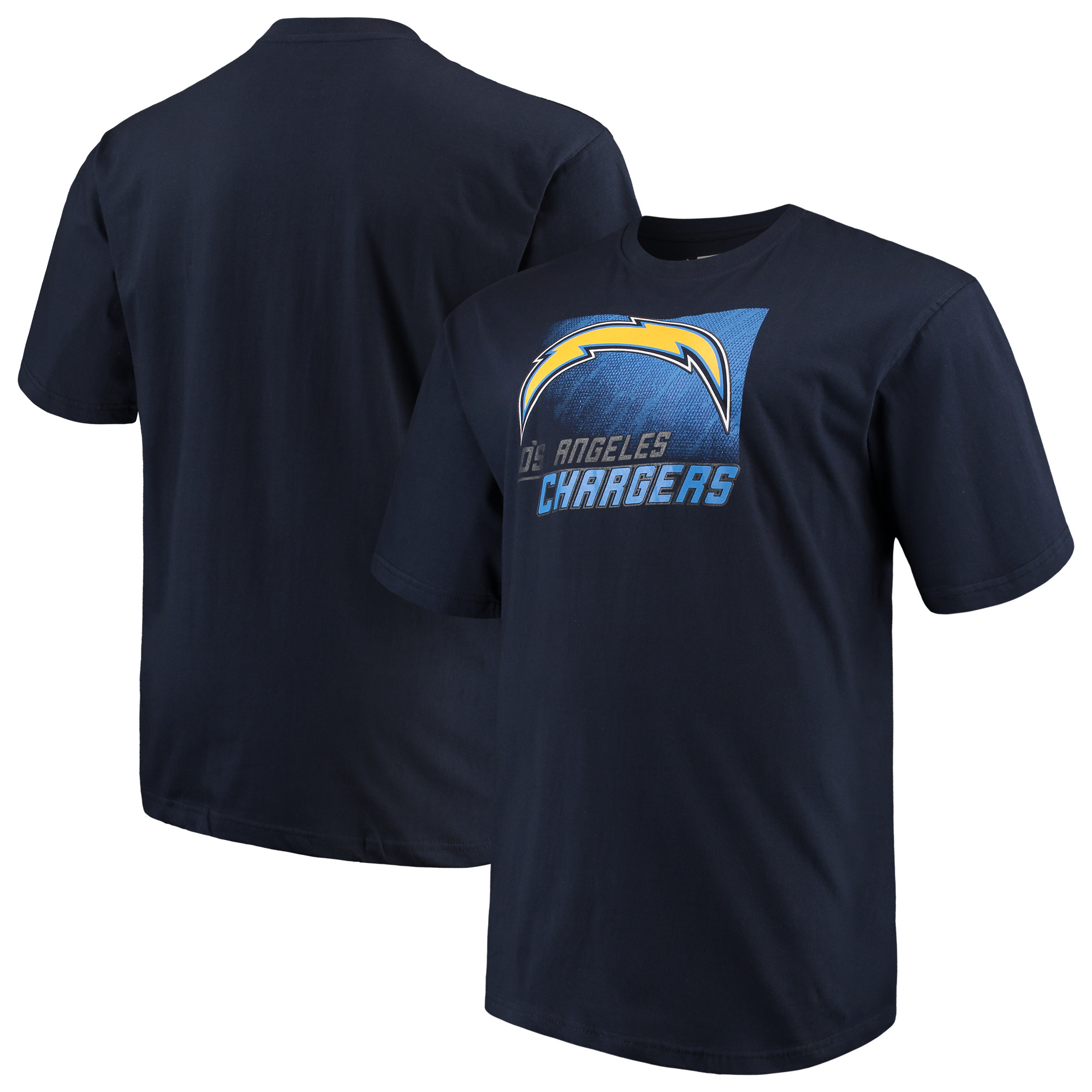 Men's Majestic Navy Los Angeles Chargers Big & Tall Reflective T-Shirt