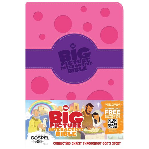 The Big Picture Interactive Bible: Holman Christian Standard Bible, Purple / Pink Polka Dot