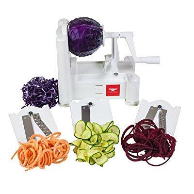 World Cuisine a4982799 tri-blade vegetable spiral slicer