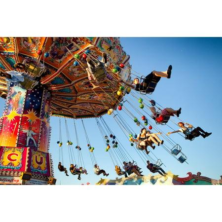 LAMINATED POSTER Oktoberfest Munich Ride Carousel Fun Poster Print 24 x 36 - Oktoberfest Photo