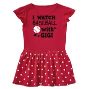 I Watch Baseball with My Gigi Infant Dress