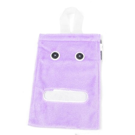 Unique Bargains Bedroom Toilet Roll Paper Napkin Tissue Hanging Plush Container Holder Purple