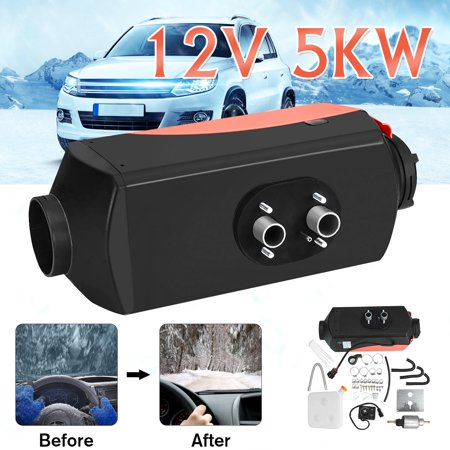 12V 5000W 5KW DT5000 Diesel Air Fuel Heater For Car Truck Bus Boat Motorhome Adjustable