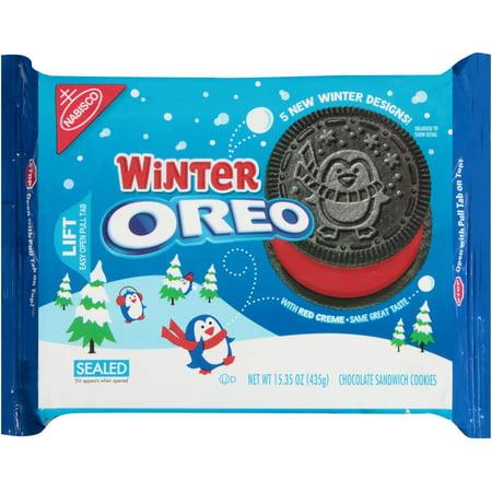 Oreo Winter Edition Chocolate Sandwich Cookies - 15.35oz