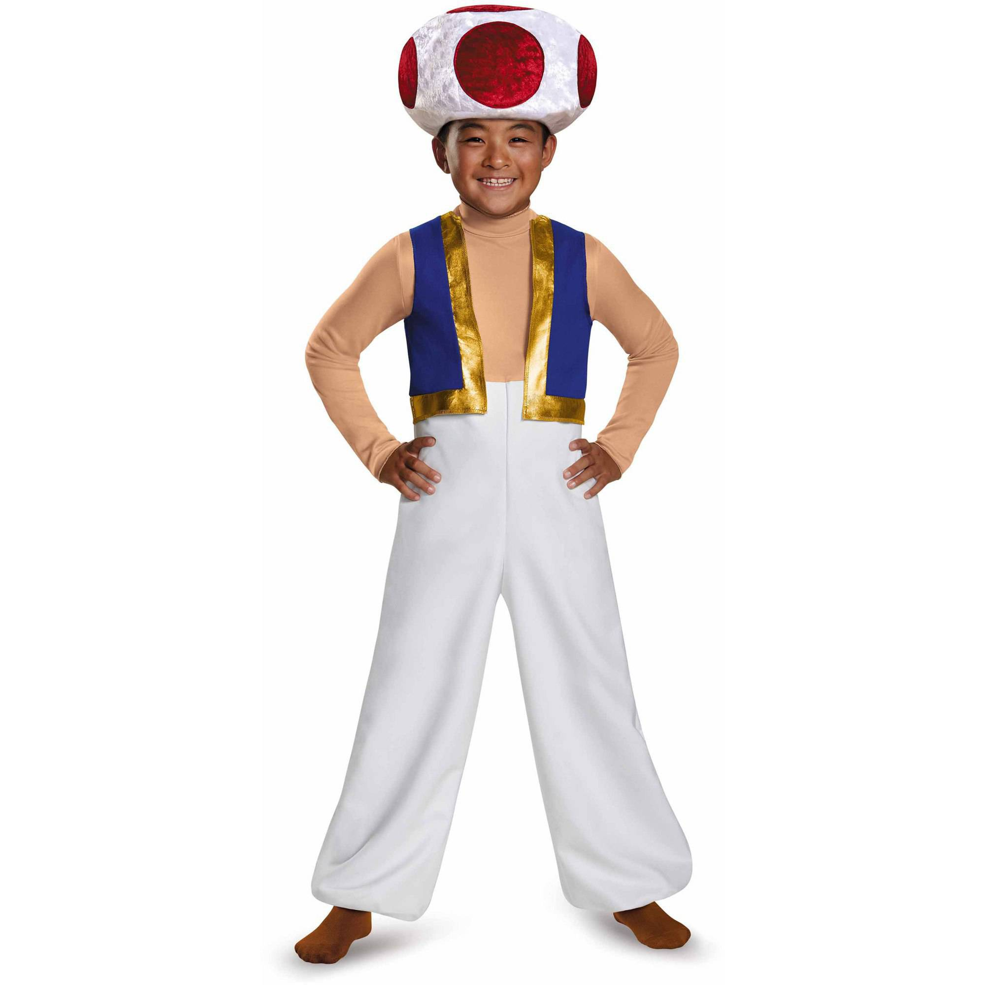 super mario bros. toad deluxe child halloween costume - walmart
