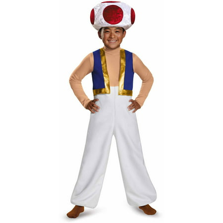 Super Mario Bros. Toad Deluxe Child Halloween Costume - Super Mario Bros. Costumes For Halloween