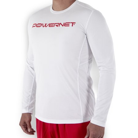 PowerNet Men's Performance Training Athletic Long Sleeve Shirt Loose Fit ()