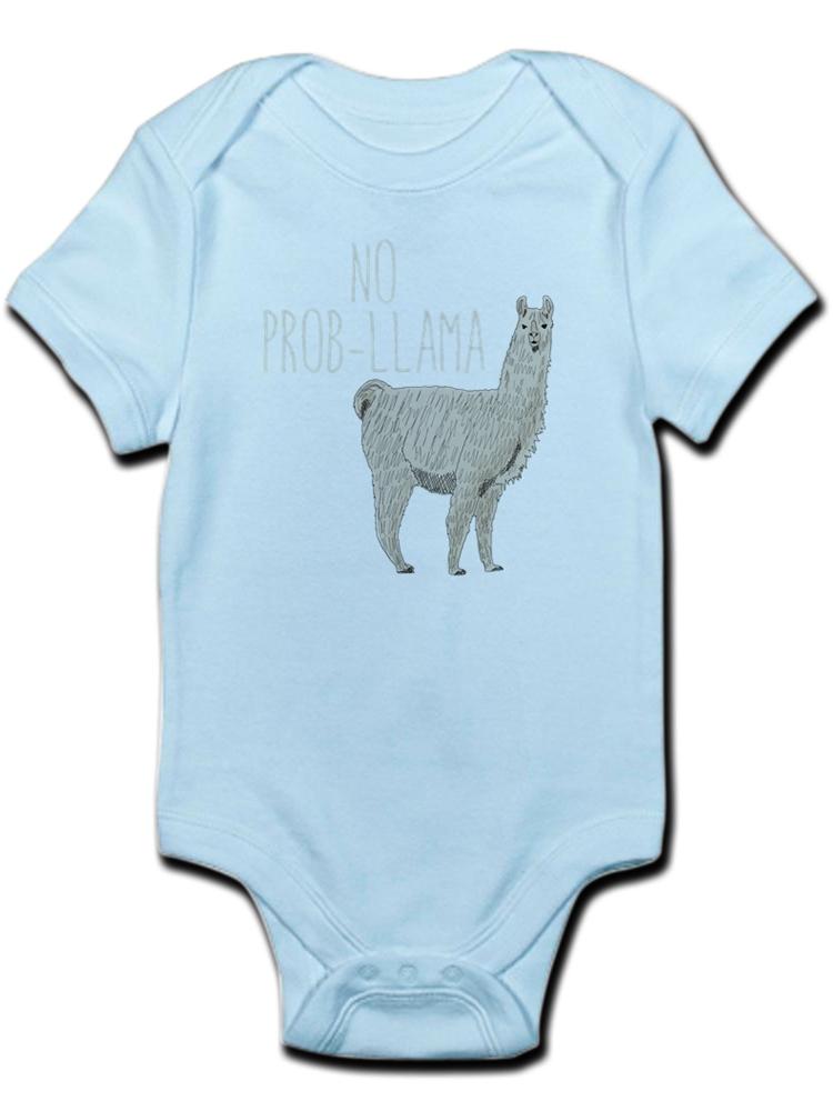 No Prob Alpaca Newborn Infant Toddler Baby Girls Boys Bodysuit Short Sleeve 0-24 MonthsBlack