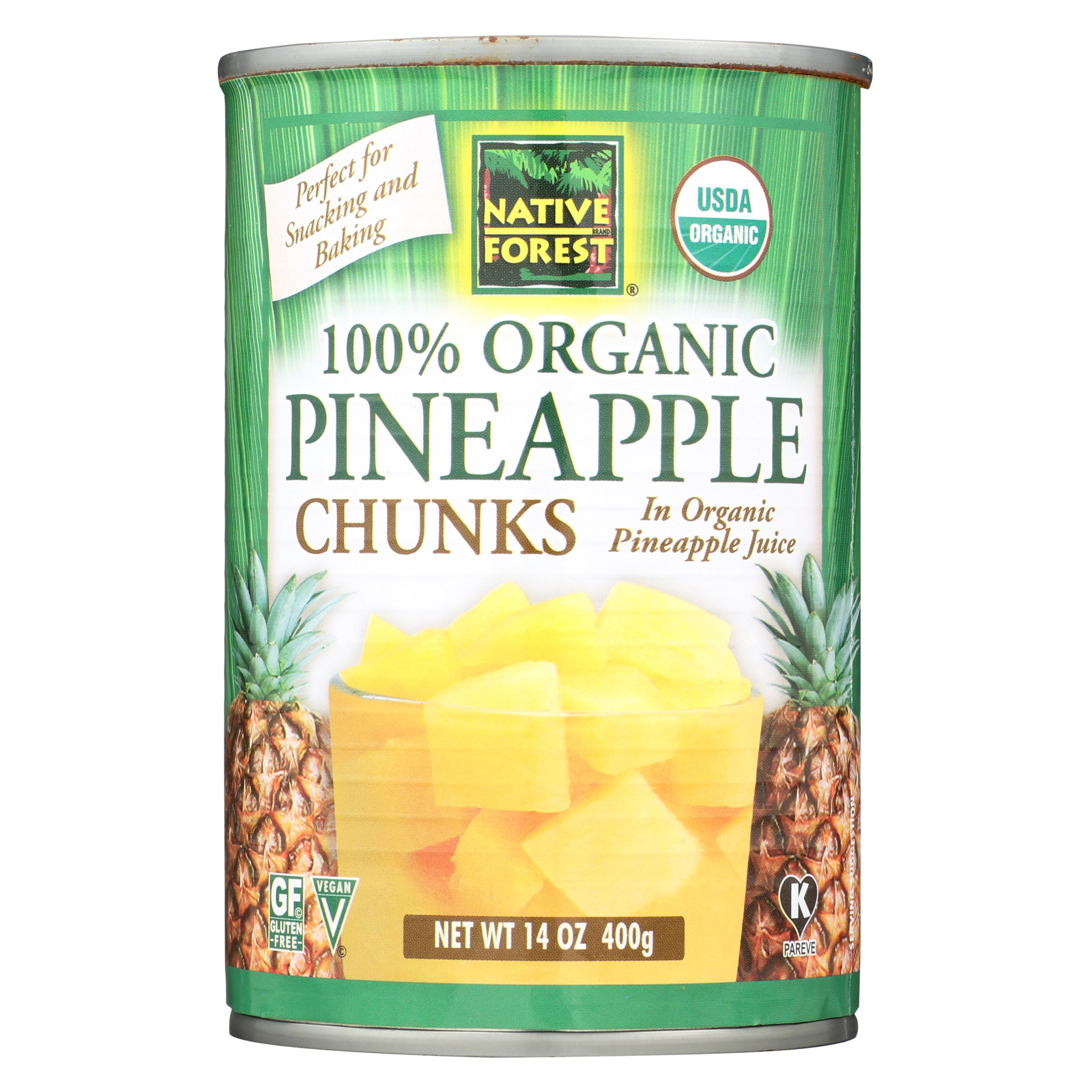 Native Forest Organic Chunks - Pineapple - Case of 6 - 14 oz.
