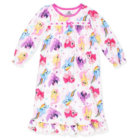 My Little Pony Toddler Girls Flannel Granny Gown Nightgown 21ML030TGL](4t Nightgown)