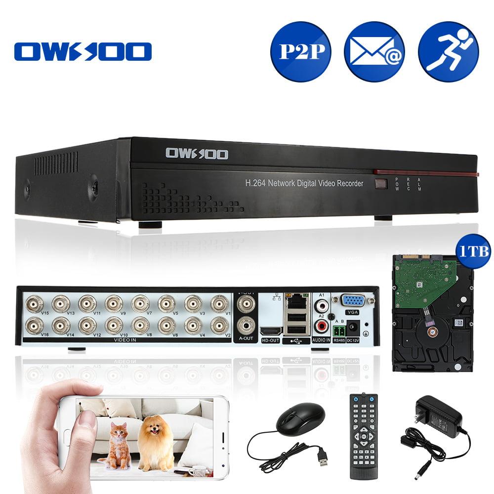 OWSOO 16-Channel Full CIF H.264 HDMI P2P Cloud Network DV...