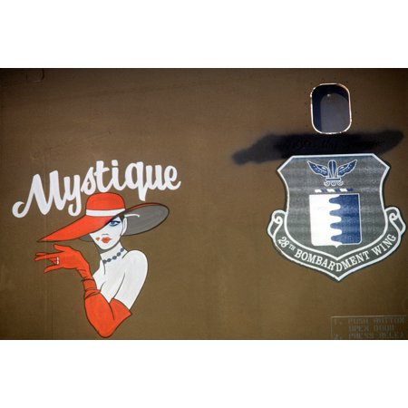 LAMINATED POSTER Nose art Mystique decorates a B-1B aircraft of the 28th Bombardment Wing at Ellsworth Air Force Ba Poster Print 24 x 36 - Fairy Wings To Decorate